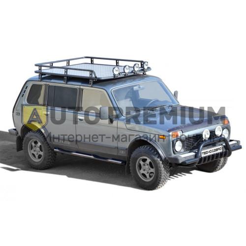 Багажник экспедиционный «Трофи» с алюм. листом без передней перекладины URBAN 2131 и 2131 Нивa